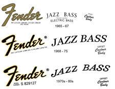 FENDER Headstock Logo  STICKER  Jazz Bass