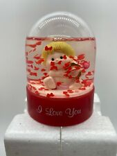 """Russ """"Little Worlds of Love"""" Cupid Snow Globe """"I Love You""""Valentine's Day"""