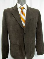 Tommy Bahama Brown Cotton Wool Blend Patch Pocket Blazer Jacket Size L