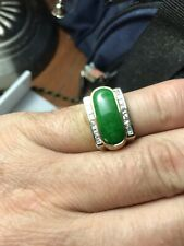 jade ring gold 18k diamonds 1.10 ct