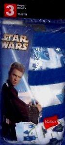 Star Wars Attack of the Clones Hanes Boy Size 4 6 8 Briefs 3 Pack Underwear New