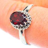Garnet 925 Sterling Silver Ring Size 9.75 Ana Co Jewelry R53241