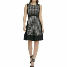 DKNY $129 DKNY Womens Geo Print Sleeveless Wear to Work Dress Size 14