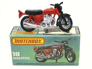 Matchbox Lesney Superfast No.18f Hondarora Motorcycle Type 'L' Without 'NEW' Box