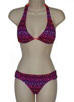California Waves purple halter bikini size S M swimsuit new