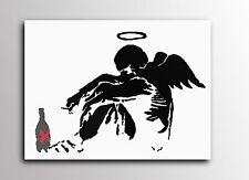 ACEO Banksy Drunken Angel Graffiti Street Art Canvas Giclee Print