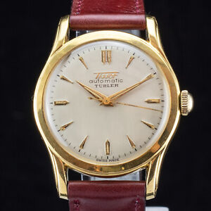 Vintage TISSOT Automatic TURLER - Bumper cal. 28.5 21T - 1953 - 33mm gold plated