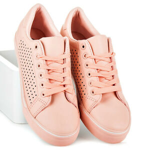 Women's Ladies Flat Casual Trainers Lace Up Sport School Shoes Size Parma