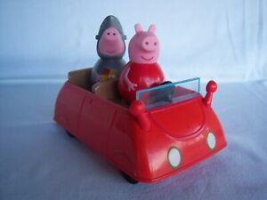 PEPPA PIG WEEBLES CAR & 2 WEEBLE FIGURES - HASBRO 2013