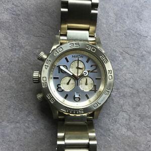 Nixon Minimize Men's Gold The 42-20 Chrono Watch Japan Movement BP