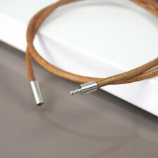 """21"""" 22"""" 55cm Brown Leather Cord Surfer Necklace NON Allergy Silver Pewter Clasp"""