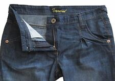 New Womens Dark Blue Tapered NEXT Jeans Size 8 Petite Leg 25 LABEL FAULT
