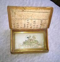 Ancienne boite marqueterie de paille fixé sous verre 18 eme