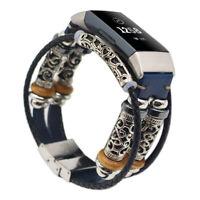 Ersatz Retro Leder Armband Zubehör Riemen Watch Band Für Fitbit Charge 3