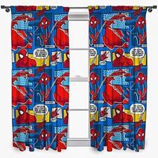 Ultimate Spiderman Cartoon Curtains Kids Bedroom Children's Nursery Curtain Set