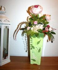 ❤️Kunstblumen Gesteck Pfingstrosen Hortensie Tischdeko SeidenBlumen in der Vase