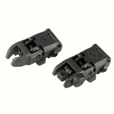 Tactical Folding AR Front And Rear Flip Up Backup Sights MBUS Set 223 5.56