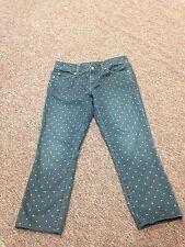 Gap Always Skinny Women's Suze 25/0r Polkadot Capri Jeans