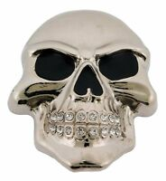 Mens Womens Skulls Skeleton Belt Buckle Rock Rebel Usa Silver Metal Goth Tattoo