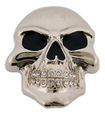 Mens Womens Skulls Skeleton Belt Buckle Rock Rebel Usa Silver Metal Goth Tattoo