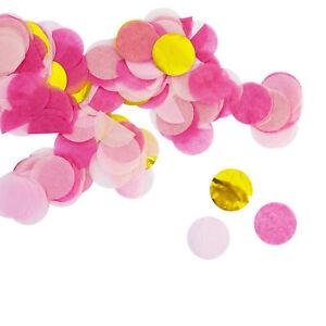 Papier Konfetti Pink Gold Rosa Tisch Streu Deko Geburtstag Hochzeit Party JGA