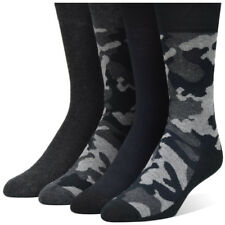 Men's Camouflage Dark Army Gray Black Dress Socks (4 Pairs)
