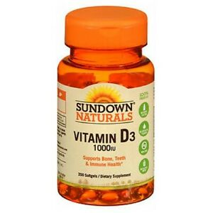 Sundown Naturals High Potency Vitamin D3 100 caps