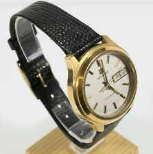 Rare Movado/Zenith Mens 18k Gold P Electronic Calendar Dress Watch.