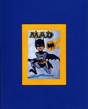 ALFRED E NEUMAN is BATMAN PRINT PROFESSIONALLY MATTED MAD