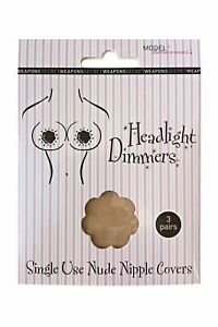3 Pairs Disposable Nipple Covers -Skin Colour Breast Petals - Flower Pasties