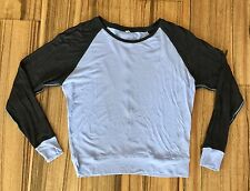 Lululemon Techni-Cool Long Sleeve/Pullover Top/Shirt/Tee 4 Black/Polar Haze EUC