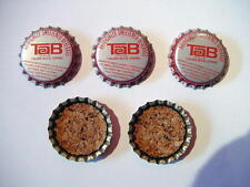 Tab Bottle Caps / Crowns Lot of 25 Original New uncrimped metal caps from 1960's
