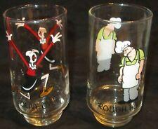 Vintage 1975 Coca Cola Popeye Series Glass ROUGH HOUSE & OLIVE OYL Kollect-A-Set