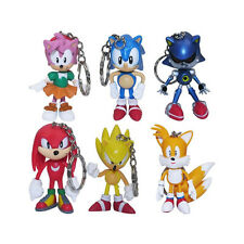 Sonic the Hedgehog Set of 6 Character Figure Keychain Keyring Pendant Toy Gift
