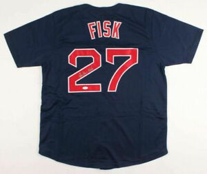 Carlton Fisk Signed Boston Red Sox Jersey (JSA COA) Rookie of the Year 1972