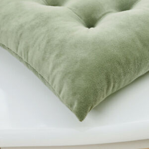 Velvet Padded Cushion Chair Seat Pads With Ties Garden Dining Kitchen