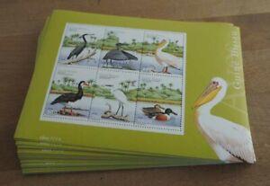 2001 Guinea-Bissau; 100 Blocks Vögel, postfrisch/MNH, Bl. 375, ME 1300,-