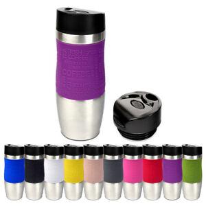 Schramm® Thermobecher in 10 Farben inkl. Ersatzdeckel Isolierbecher ca. 400ml Th