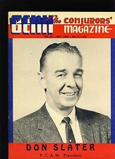 Don Slater Pcam President Genii Magicians Magazine May1958 - contents in post