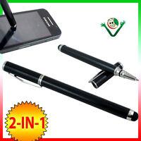 Pennino stylus NERO 2-in-1 per Samsung Galaxy Note 10.1 N8000 penna sfera BCP