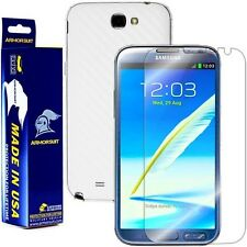 ArmorSuit MilitaryShield Samsung Galaxy Note II Screen + White Carbon Fiber Skin