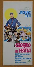 LOCANDINA, GIORNO DI FESTA, JACQUES TATI, GUY DECOMBLE, COMMEDIA, SYMEONI ART