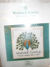 """Counted Cross Stitch Kit PEACOCK (Warwick Castle) """"the finest mediaeval castle"""""""