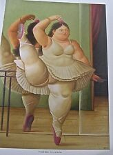Fernando Botero Reprint Ballerina to the Handrail 14x11 Offset Lithograph