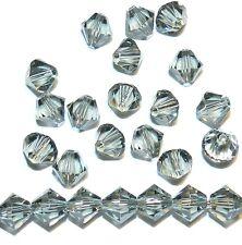 SCB521f Black Diamond 6mm Xilion Faceted Bicone Swarovski Crystal Beads 24pc