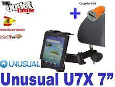 """SOPORTE REPOSACABEZAS para TABLET UNUSUAL U7X 7"""" PULGADAS UNIVERSAL"""