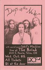 Days of the New Brink Tulsa Oklahoma Concert Handbill Flyer Near Mint
