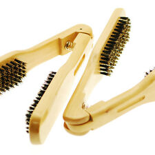 2pieces Hair Salon Professional Wooden Clamp Straightening Double Hair Brush #02