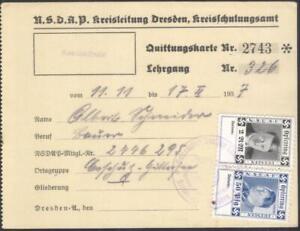 Germany Nazi era card revenues Opferring of the NSDAP Dresden Hitler Göring