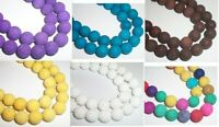 Lava Stone natural round 10mm Dyed gemstone beads - 1 strand Choose Color!